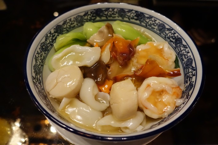 Taiwanese noodles with seafood