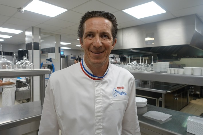head chef Christophe Bacquie