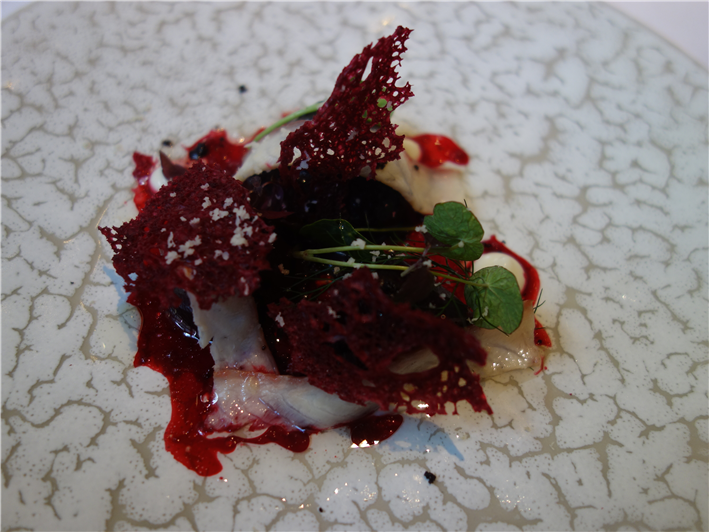 beetroot and smoked eel