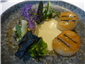 scallops with brassicas