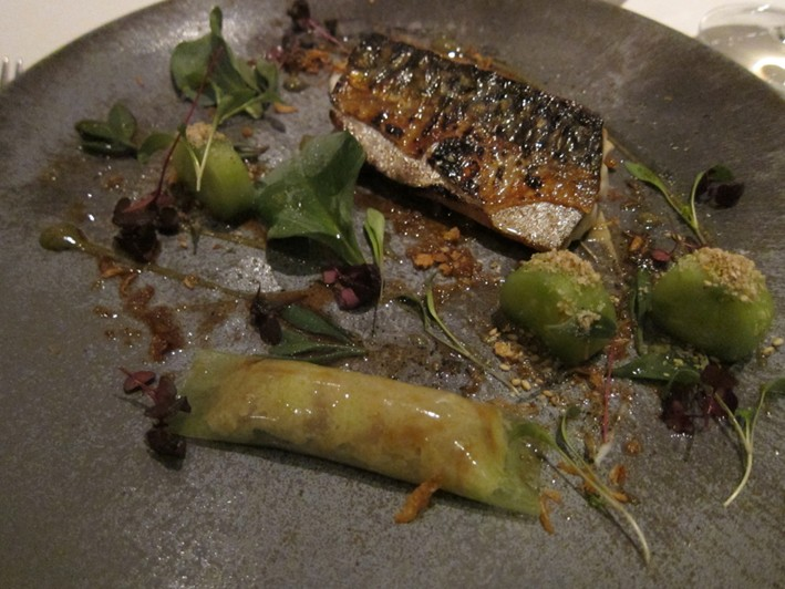 mackerel on slate