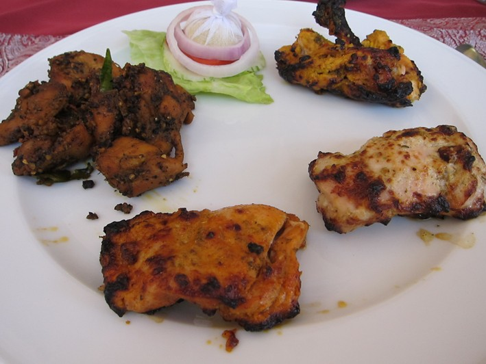 chicken tikka assortment