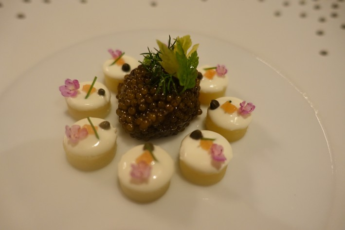 caviar and potato