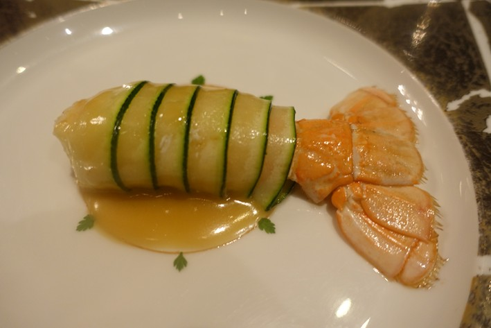 langoustine and courgette