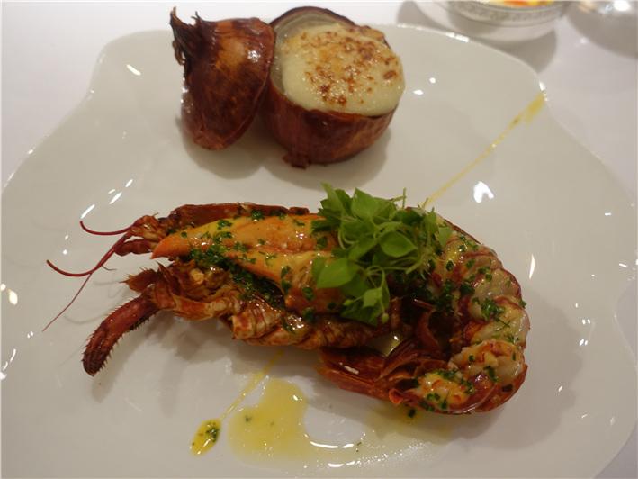 lobster and baked onion