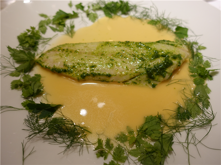 sea bass with herbs