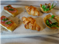 anchovy croissant and other  nibbles