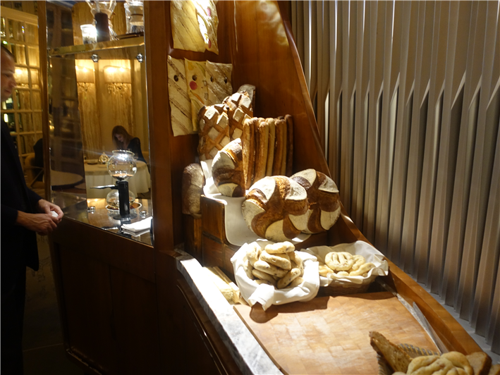 bread station in centre of room