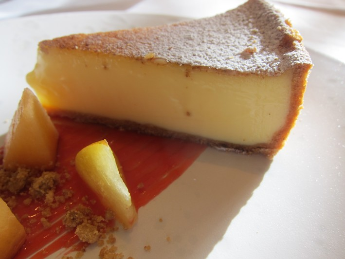 custard tart close up