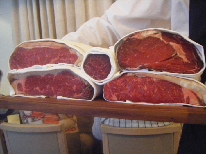 beef displayed