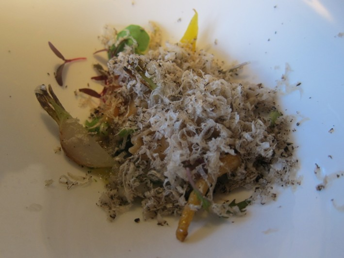 vegetables with summer truffle