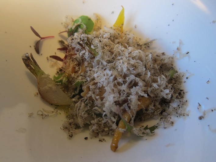 vegetables with summer truffles