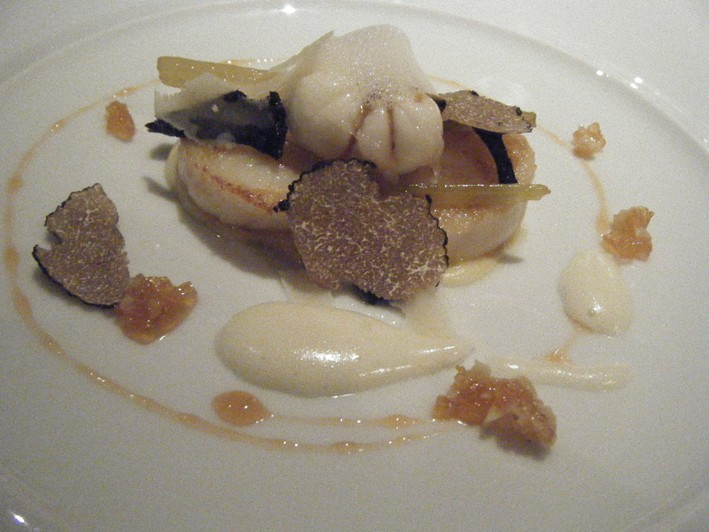 scallops with truffles