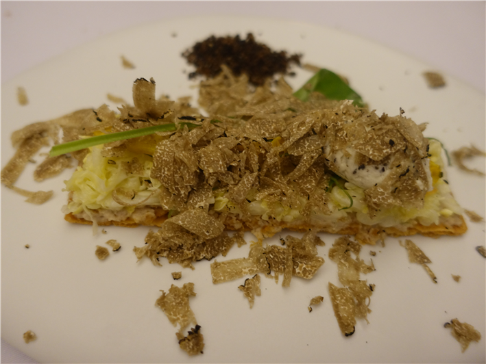 cabbage tart with summer truffles