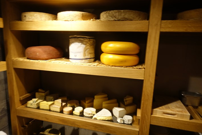 cheese room shelves