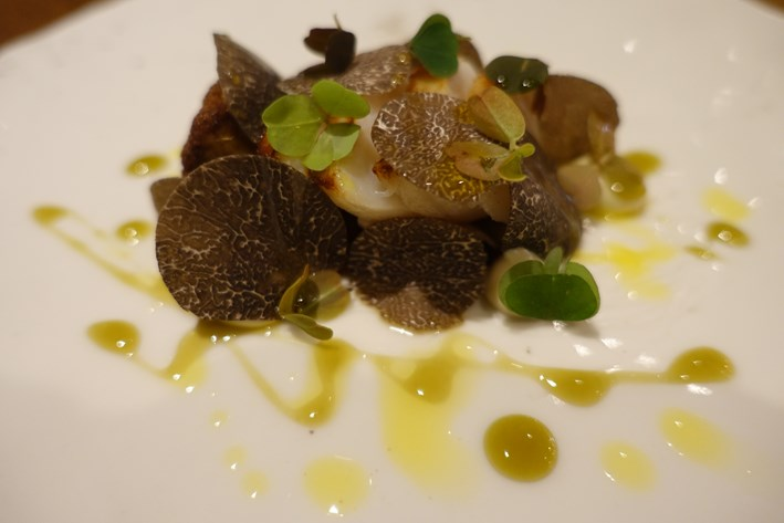 scallop with truffle