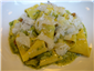 pappardelle with broccoli and girolles