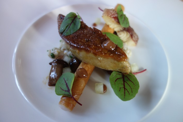 foie gras and eel