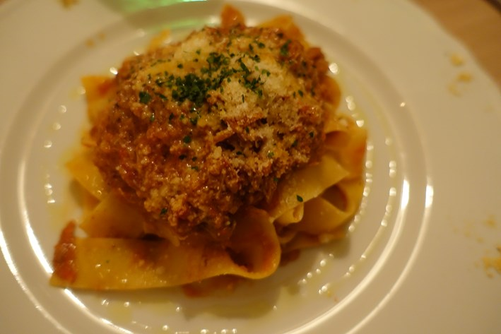 papardelle with duck ragout