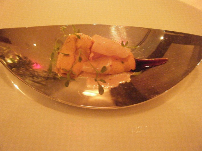 sea urchin and sashimi