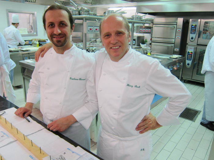 heinz beck with sous cchef