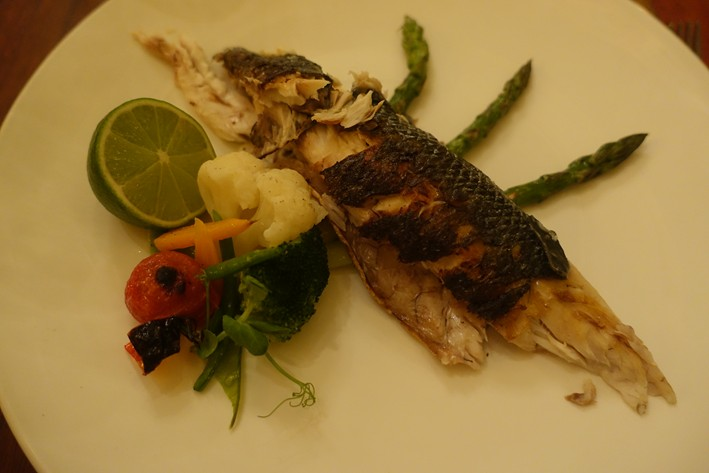 sea bass served