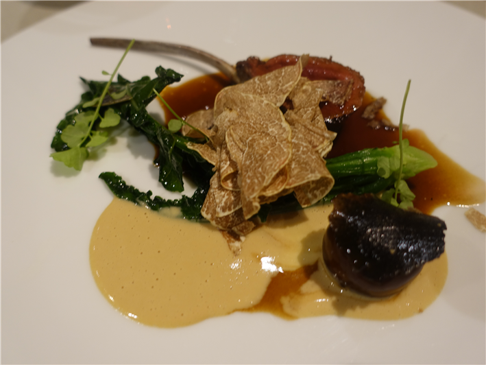 venison with truffles