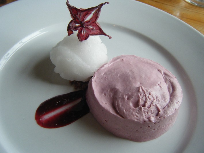 blackcurrant mousse