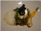 poached egg and puy lentils