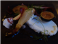 goat curd cheese and fig