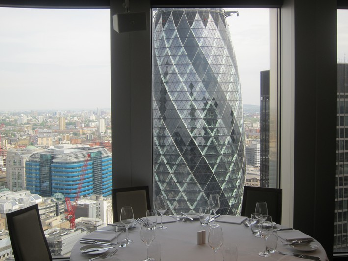 view of gherkin tower