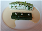 Dover sole ballotine and leek terrine