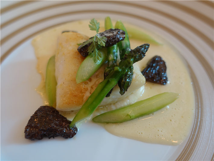 John Dory with champagne sauce