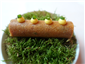 beef tartare in brick pastry tube