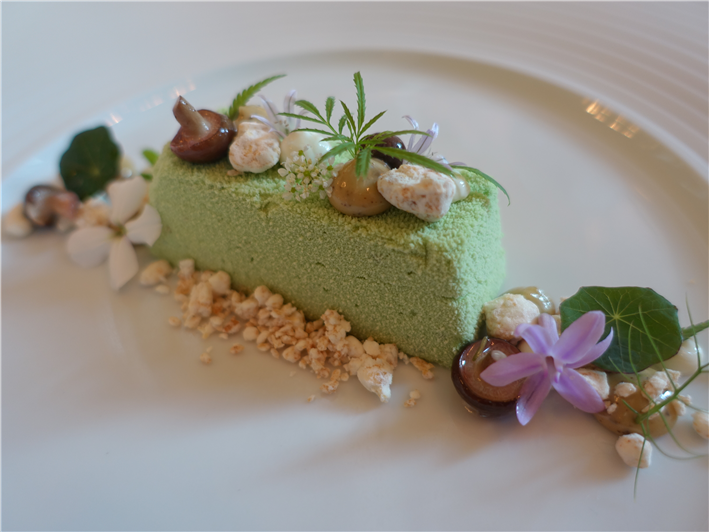 Tamworth cheese and herb mousse
