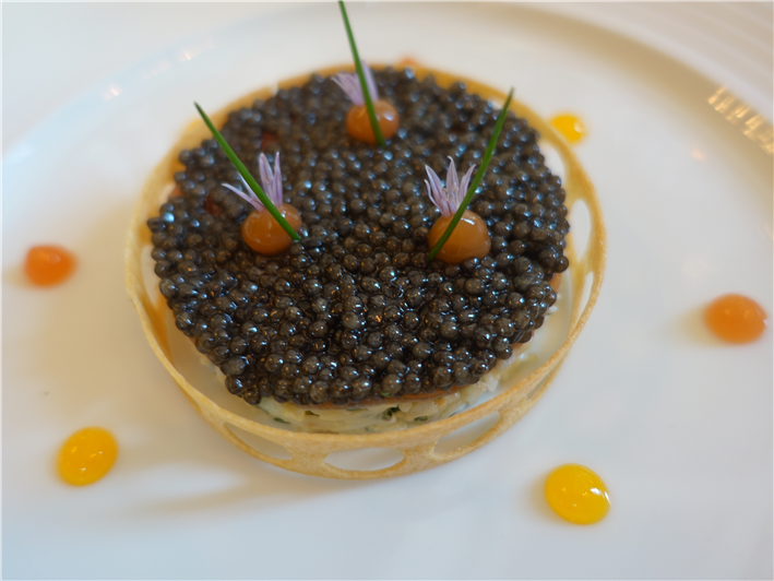 crab with sevruga caviar