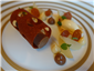 gianduja and pear with gingerbread tuple