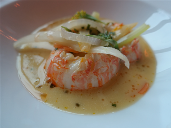 langoustine with court bouillon