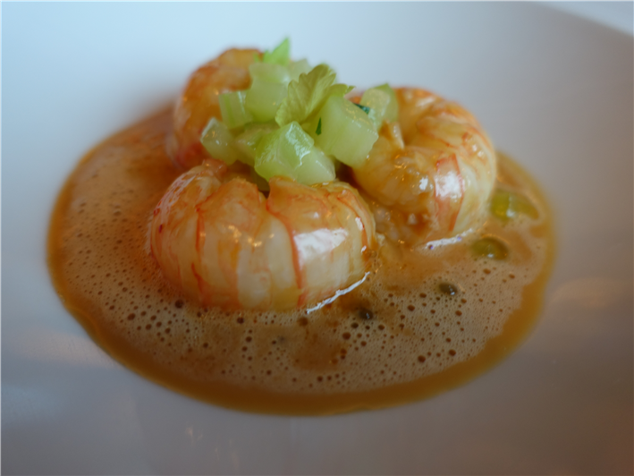 langoustines with celery