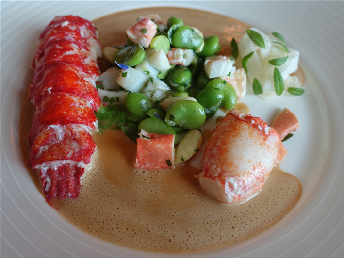 lobster and spring vegetables