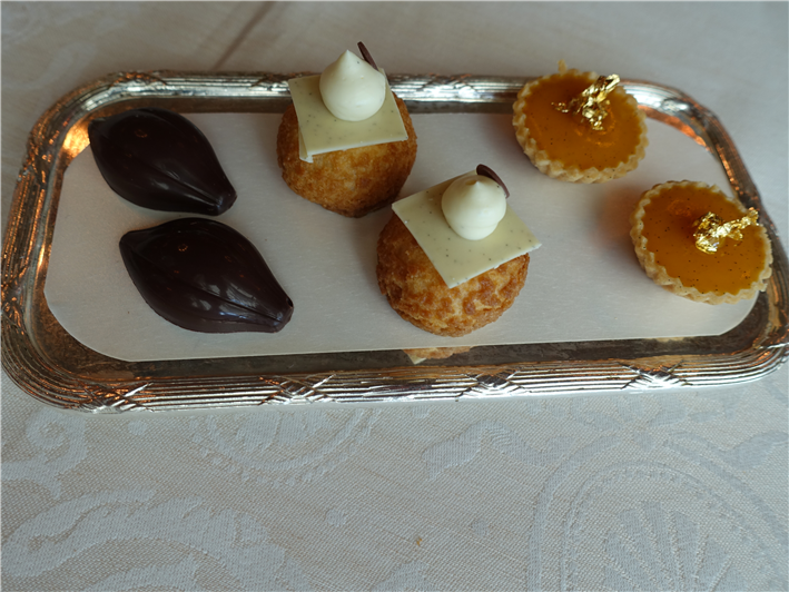 trio of petit fours