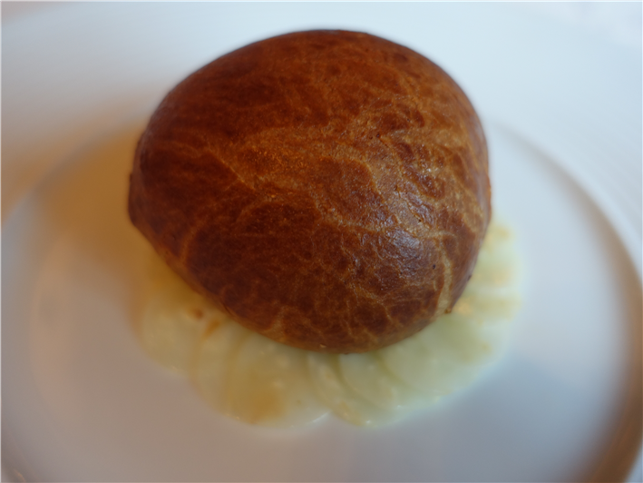 whole black truffle in brioche