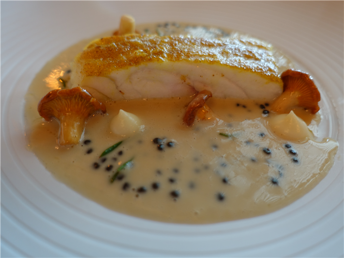 turbot with caviar