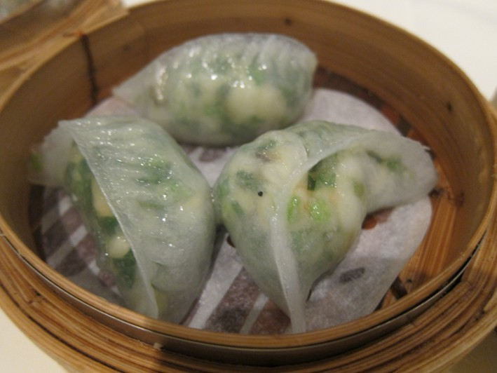prawn and chive dumplings