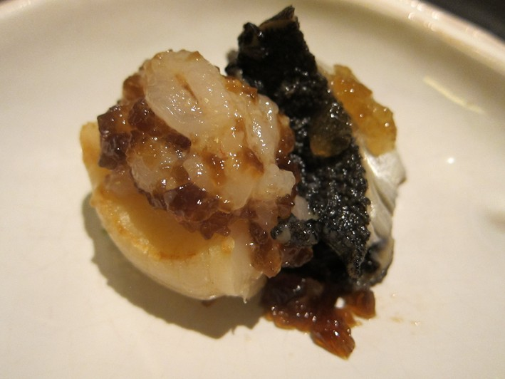 scallop with vinegar jelly