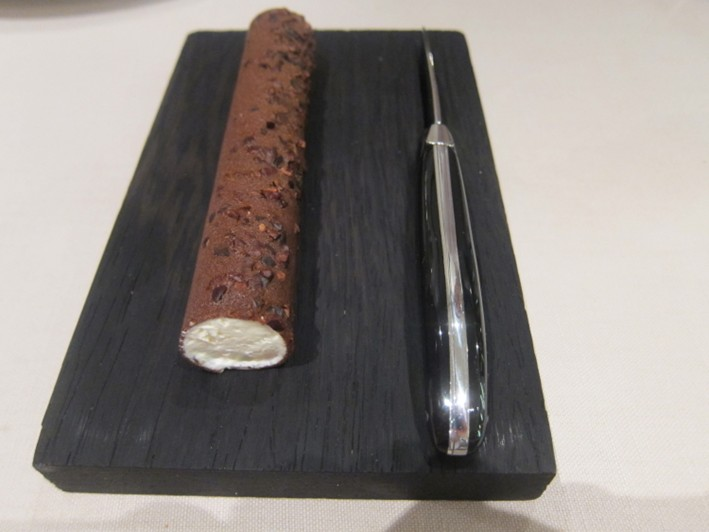 chocolate cigar with chantilly cream