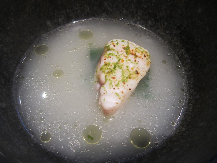 monkfish with lime