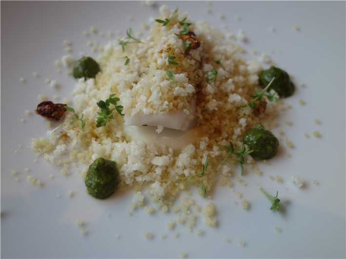 sea bream with cauliflower
