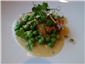veal sweetbreads with peas