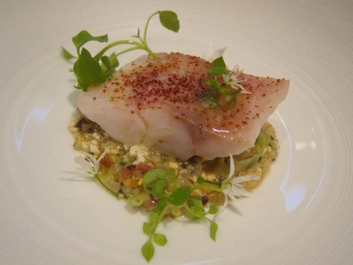 sea bream with quinoa